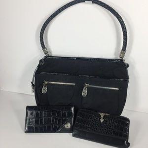 Brighton Women Vintage Leather Handbag Bundle Lot
